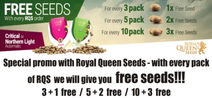 Free cannabis seeds for every order - Royal Queen Seeds